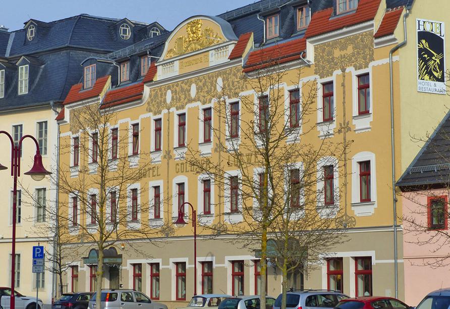 Hotel Goldner Loewe in Bad Köstritz, Außenansicht