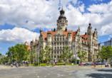 Auch Leipzig mit dem Neuen Rathaus ist einen Besuch wert.