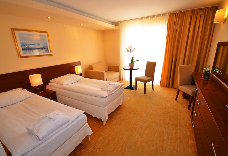 Hotel Krol Plaza Spa & Wellness in Jaroslawiec an der polnischen Ostsee, Zimmerbeispiel