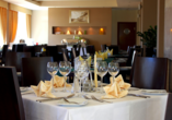 Hotel Krol Plaza Spa & Wellness in Jaroslawiec an der polnischen Ostsee, Restaurant