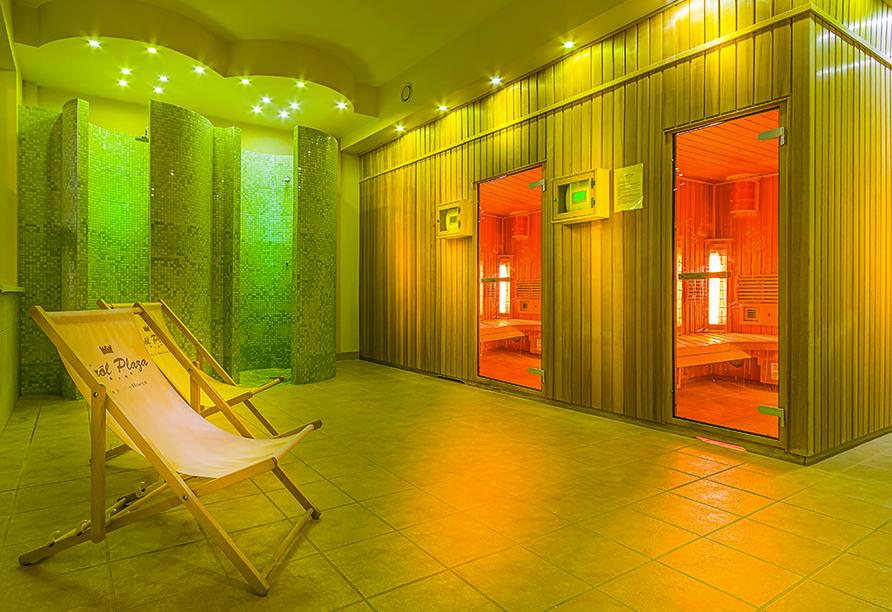 Hotel Krol Plaza Spa & Wellness in Jaroslawiec an der polnischen Ostsee, Sauna