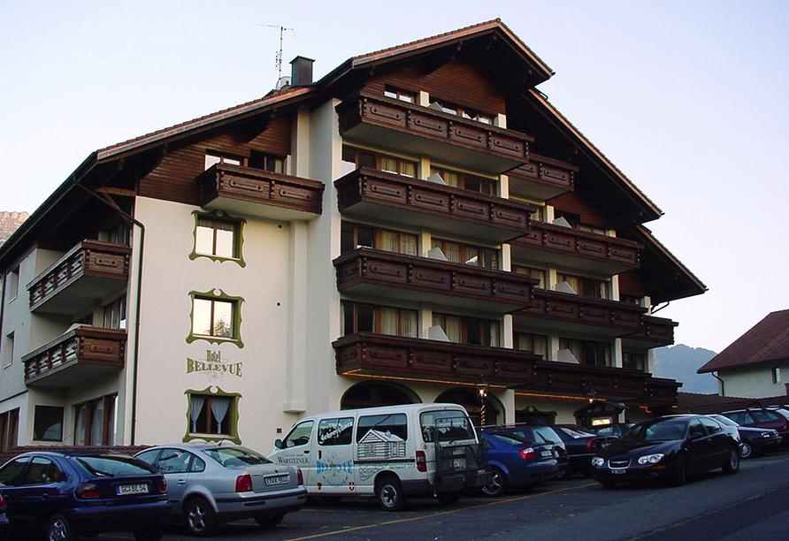 Hotel Bellevue in Seelisberg, Vierwaldstättersee, Schweiz, Außenansicht