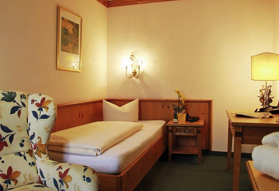 Post Hotel Mittenwald, Beispiel Einzelzimmer