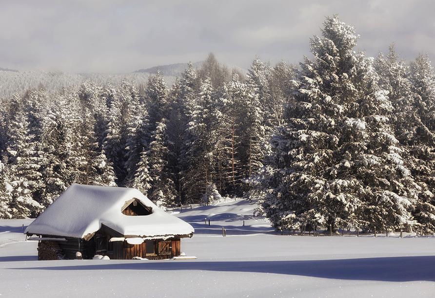 Post Hotel Mittenwald, Winterlandschaft