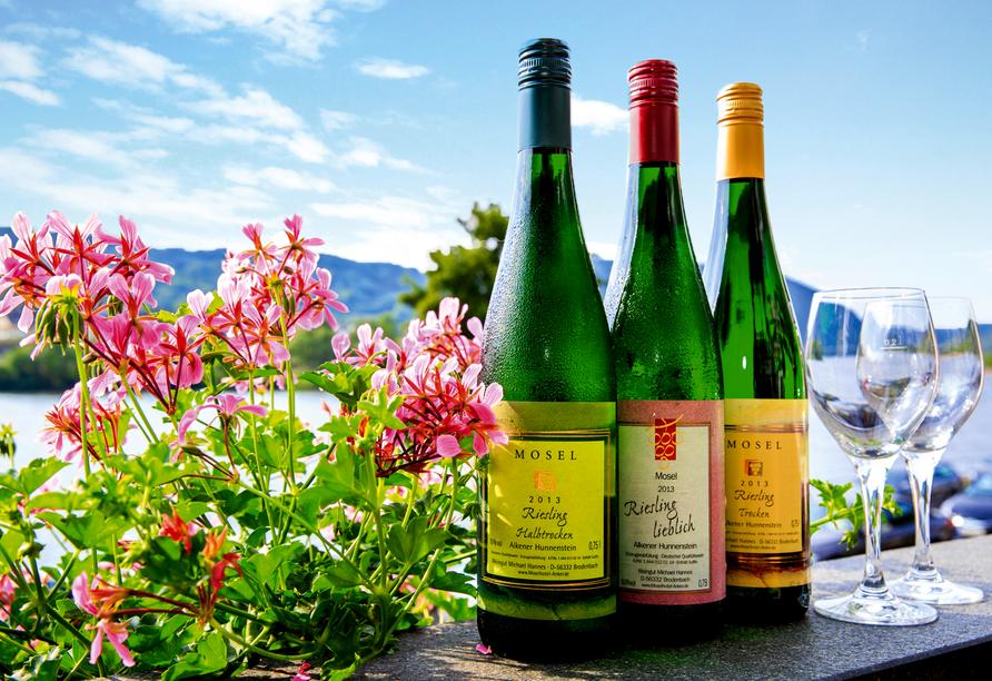 Hotel Anker in Brodenbach an der Mosel Wein