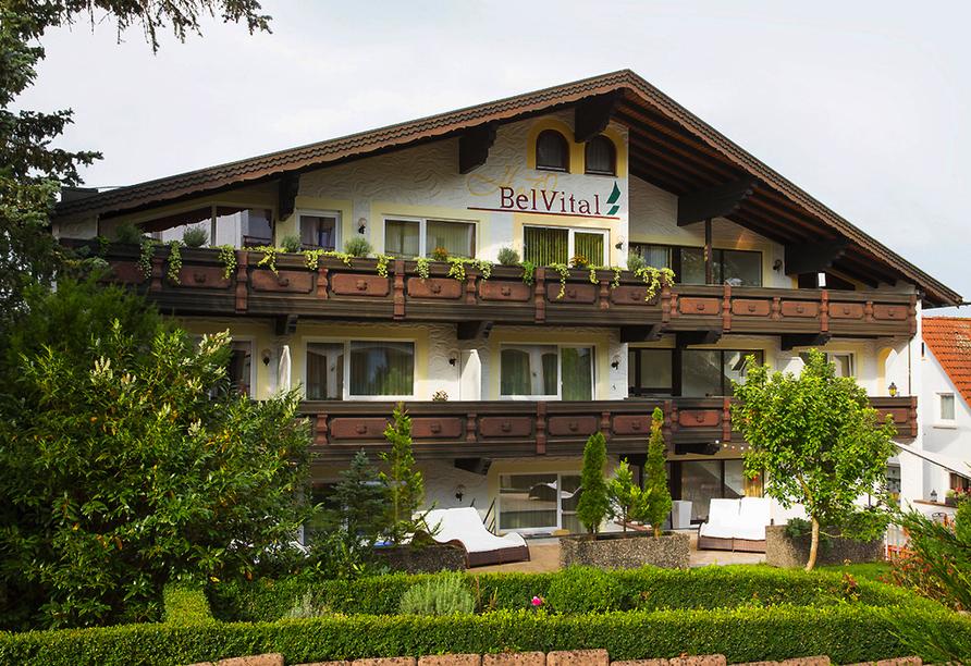 Hotel Waldachtal, Außenansicht vom Nebengebäude BelVital des Hotel Waldachtal