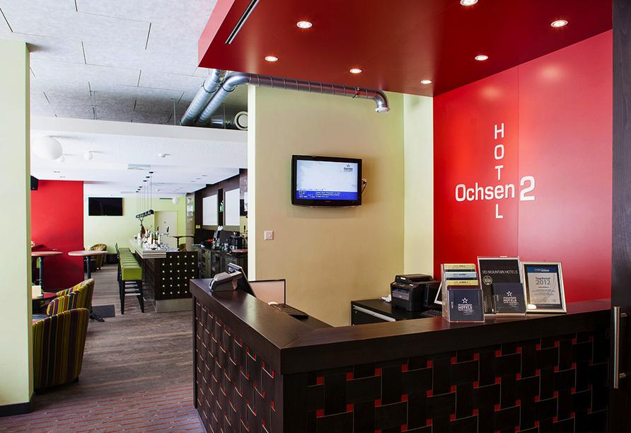 Hotel Ochsen 2 in Davos Platz, Rezeptionsbereich