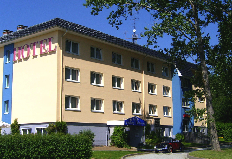 Hotel am Tierpark in Güstrow in Mecklenburg, Außenansicht