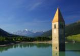 Landhaus Paradies in Spiss, Ausflugsziel Reschensee