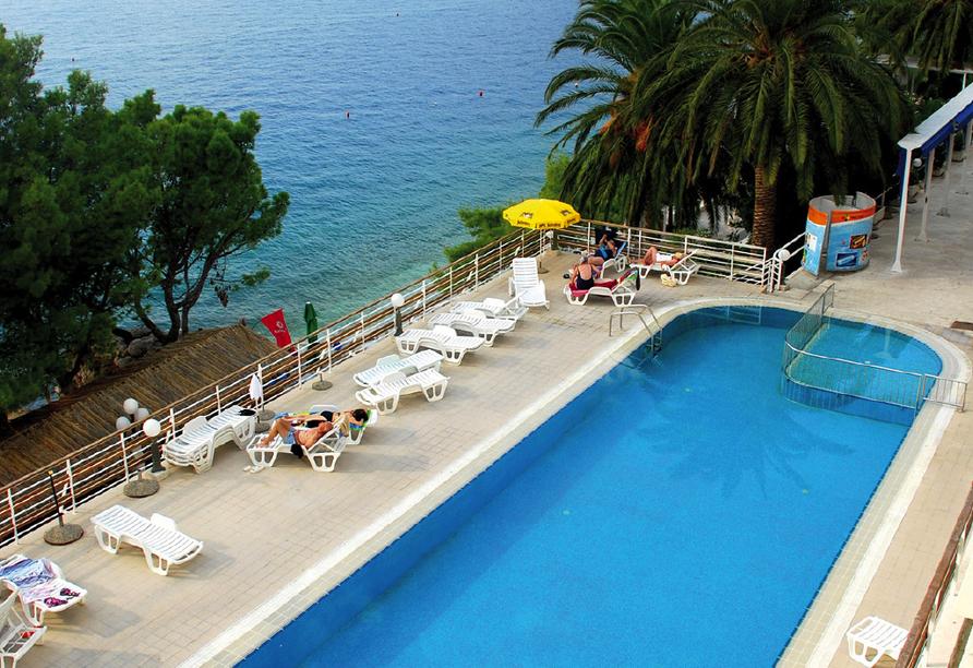Blaue Reise Dalmatien, Außenpool Hotel Aurora
