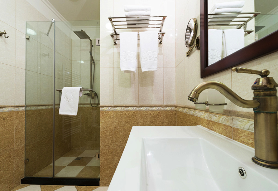 Zamek Luzec Spa & Wellness Resort, Nova Role, Tschechien, Badezimmerbeispiel