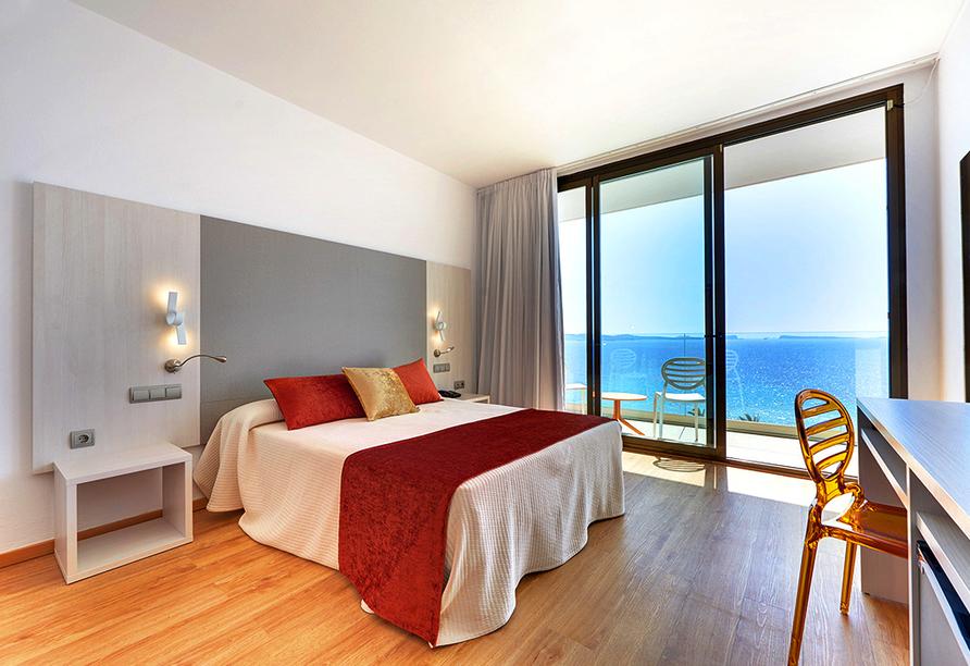 Hotel Abrat in San Antonio in Ibiza, Beispiel Doppelzimmer Meerblick