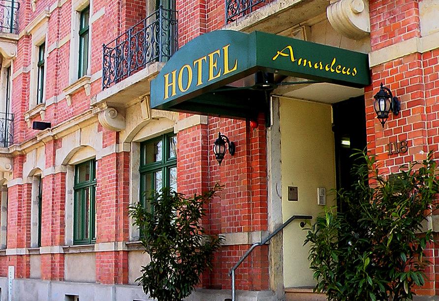 Hotel Amadeus in Dresden, Eingangsbereich