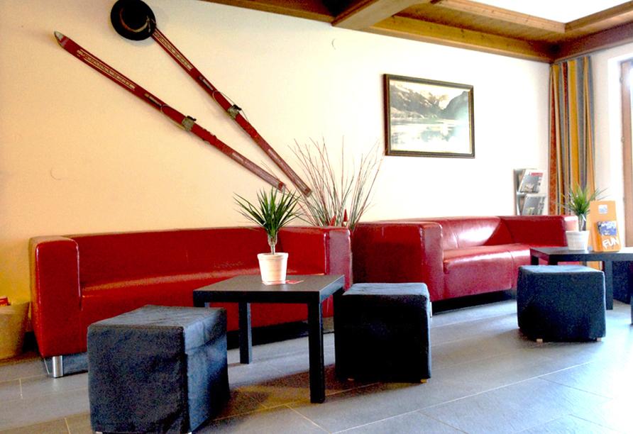 First Mountain Hotel Zillertal in Aschau, Empfangshalle