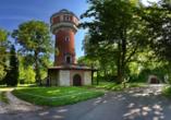 Orange Hotel und Apartments in Neu-Ulm Mittelschwaben, Wasserturm
