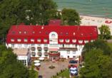 Erholungsanlage Jantar in Rewal an der polnischen Ostsee Außenansicht