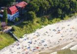 Erholungsanlage Jantar in Rewal an der polnischen Ostsee Strand