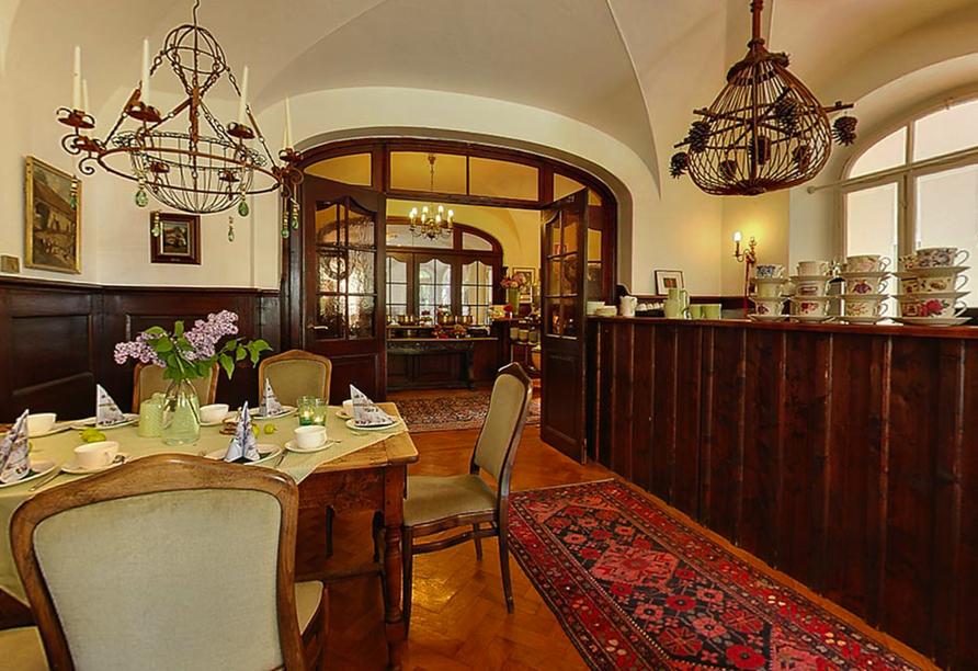 Hotel Kolbergarten in Bad Tölz in Bayern, Frühstücksraum