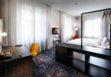 Pentahotel Braunschweig, Doppelzimmer mit Doppelbett