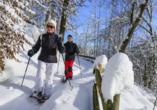 Landhotel Rosenberger in Wegscheid im Bayerischen Wald, Schneeschuhwandern