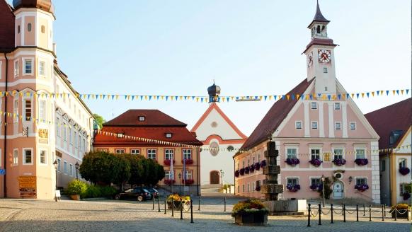 Hotel Am Markt in Greding, Marktplatz