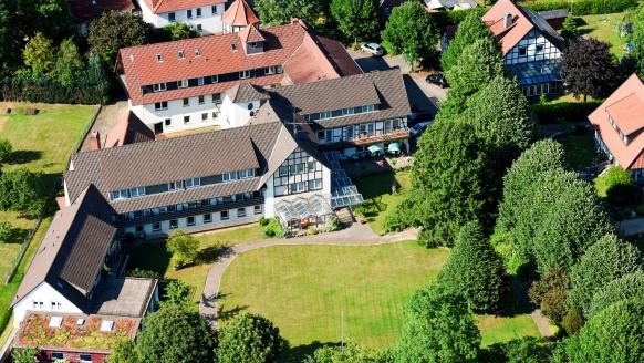 Hotel Bad Griepshop in Hille-Rothenuffeln, Luftansicht