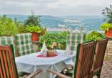 Panoramahotel am Marienturm in Rudolstadt im Thüringer Wald, Sonnenterrasse