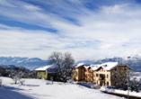 Hotel Stella delle Alpi in Ronzone in Südtirol Winteransicht