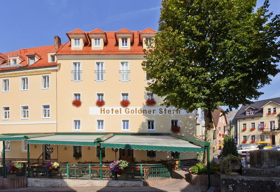 AKZENT Hotel Goldner Stern in Muggendorf, Außenansicht