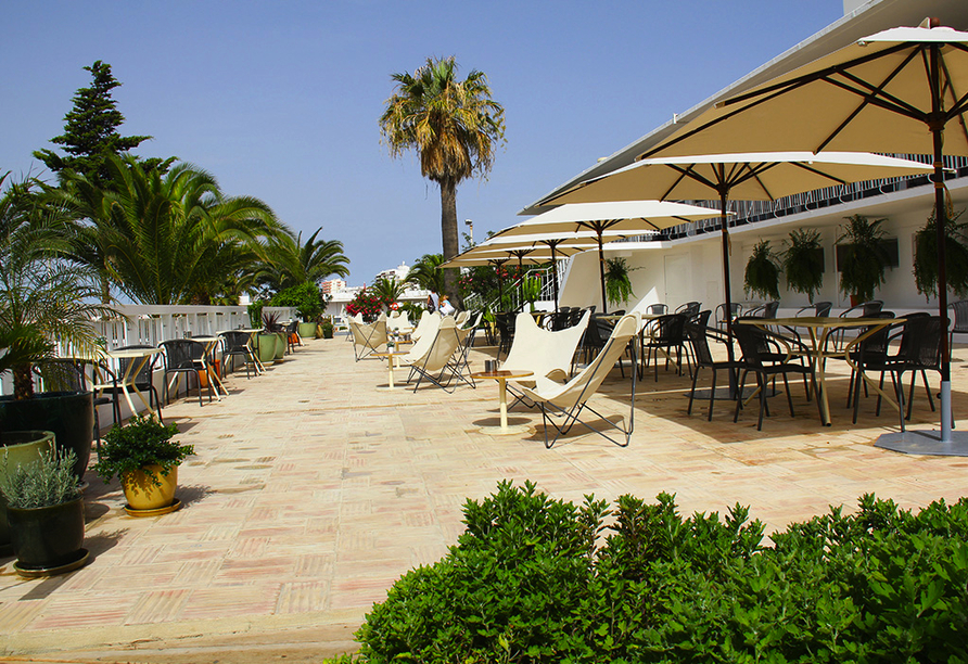 Hotel Vasco da Gama in Monte Gordo, Terrasse