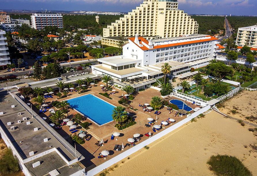 Hotel Vasco da Gama in Monte Gordo, Außenansicht