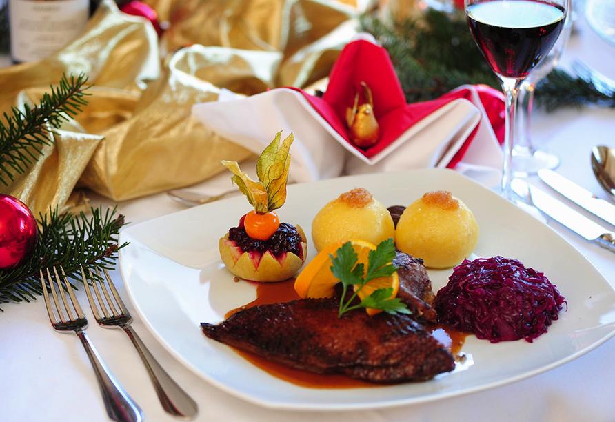 Best Western Hotel Brunnenhof in Weibersbrunn, Menü