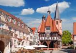 Hotel Zur Krone in Michelstadt im Odenwald Rathaus