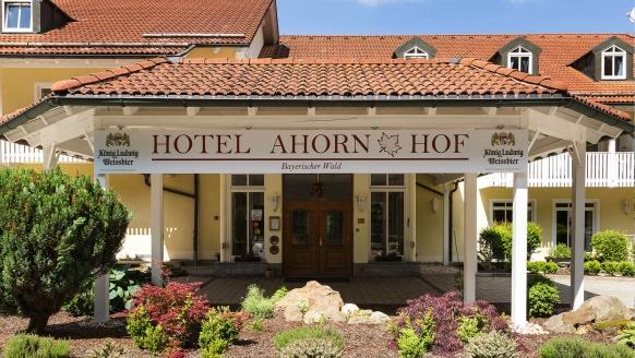 Hotel Ahornhof in Lindberg, Eingang