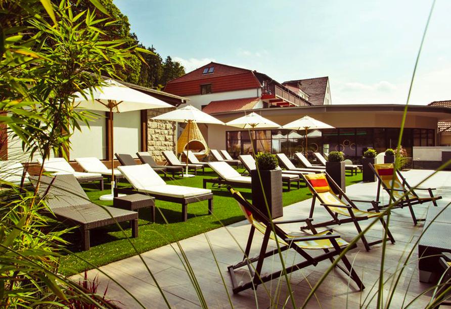 Göbel's Vital Hotel in Bad Sachsa, Terrasse