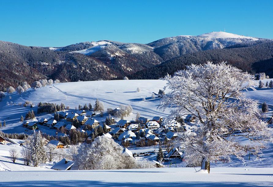 Flair Hotel Sonnenhof in Baiersbronn im Schwarzwald, Winter