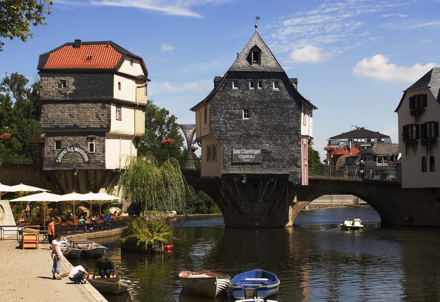Bewundern Sie die Brückenhäuser in Bad Kreuznach.