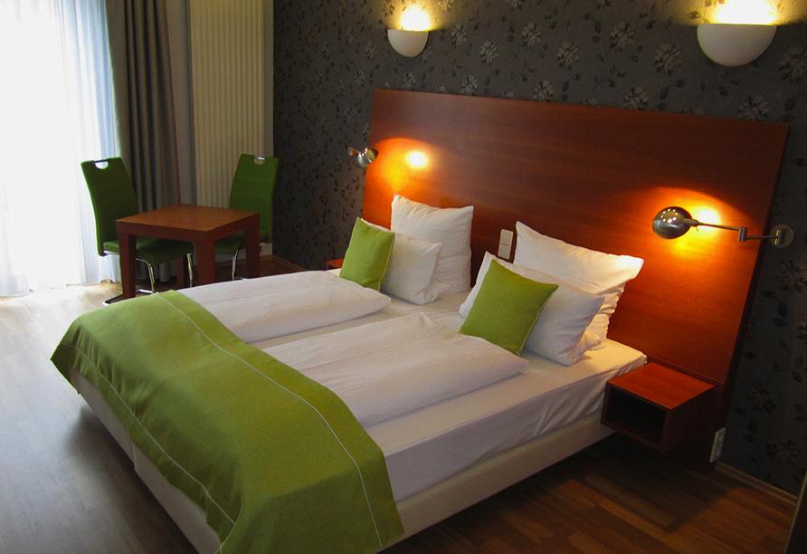 Beispiel eines Doppelzimmers im PRIMA Hotel Schloss Rockenhausen.