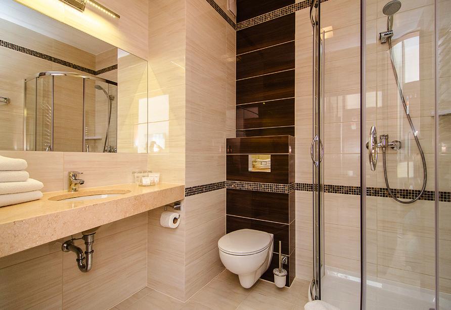 Hotel Emocja Uniescie Polnische Ostsee, Beispiel Badezimmer