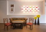 Kleinkunsthotel in Naturns, Südtirol, Italien, Lounge