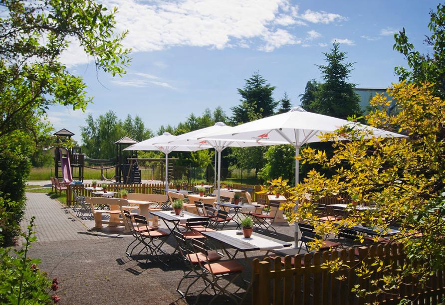 Ferien Hotel Spreewald, Terrasse