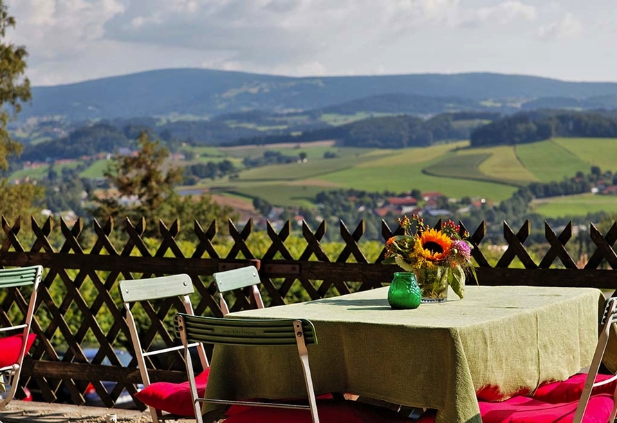Hotel Gottinger in Waldkirchen, Bayerischer Wald, Fernblick