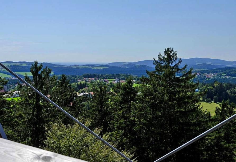 Hotel Gottinger in Waldkirchen, Bayerischer Wald, Baumwipfelweg Aussicht