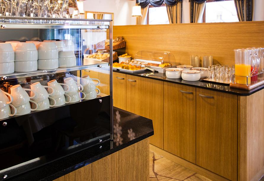 Hotel Goldene Rose in Welsberg, Reichhaltiges Frühstücksbuffet