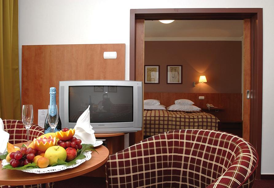 Hunguest Hotel Pelion in Tapolca, Zimmerbeispiel mit Loggia