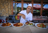 Hunguest Hotel Pelion in Tapolca, Buffet außen