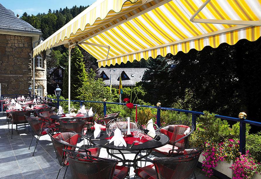 Rüters Parkhotel in Willingen, Terrasse