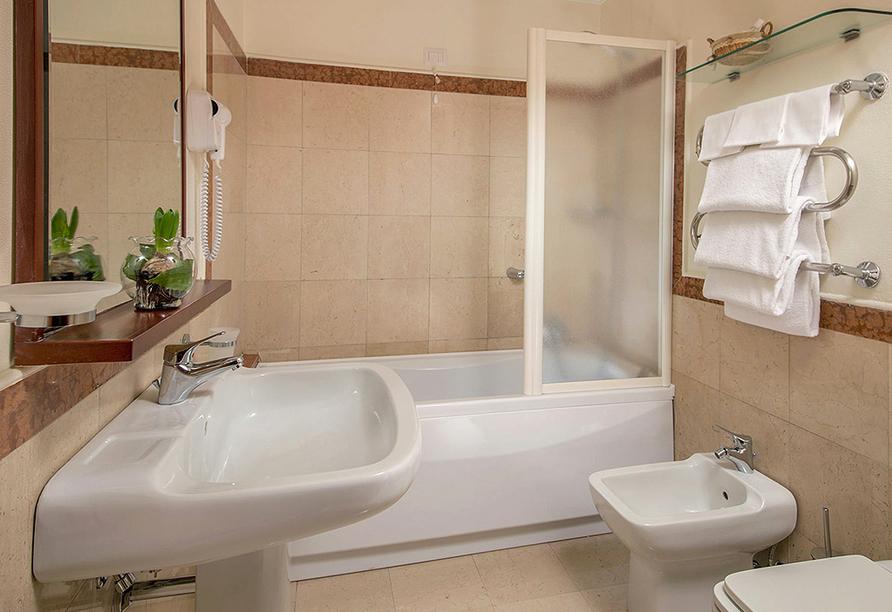 Hotel Villa Grazioli in Rom, Badezimmerbeispiel