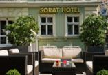 SORAT Hotel Cottbus, Terrasse