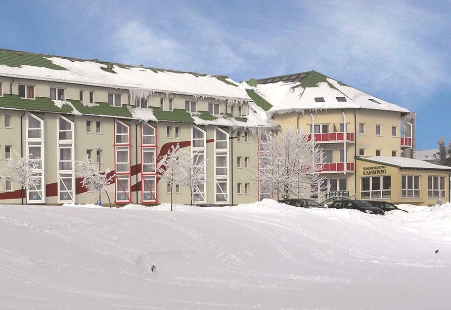 Hotel Kammweg in Neustadt am Rennsteig, Winter